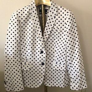 J.CREW schoolboy  in polka dots  blazer